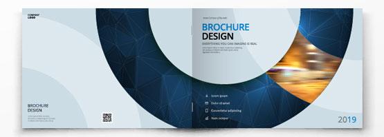 Brochure piquée format paysage