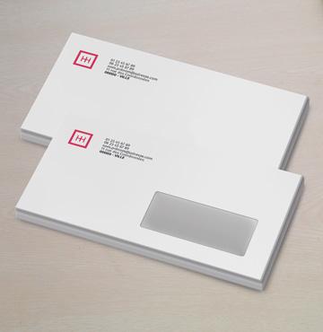 Enveloppe personnalisée logo